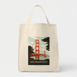 San Francisco, CA - Golden Gate Bridge Tote Bag