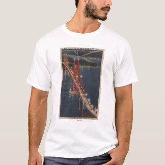 San Francisco, CA - Night View of Golden Gate T-Shirt