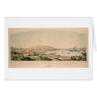 San Francisco, CA. Panoramic Map 1849 (1626A) Card