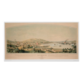 San Francisco, CA. Panoramic Map 1849 (1626A) Poster