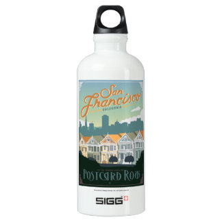 San Francisco, CA - Postcard Row SIGG Traveller 0.6L Water Bottle