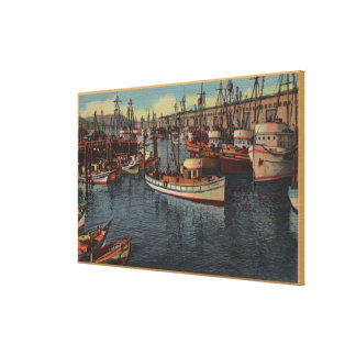San Francisco, CA Purse-Seiners at Fisherman's Gallery Wrap Canvas
