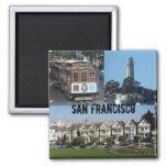 San Francisco, CA Square Magnet