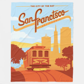 San Francisco, CA - The City by the Bay Fleece Blanket