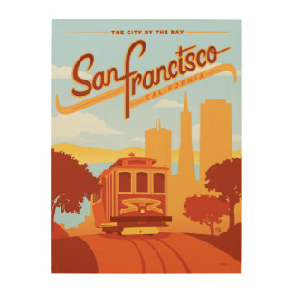 San Francisco, CA - The City by the Bay Wood Prints