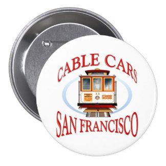 San Francisco Cable Car Pinback Buttons