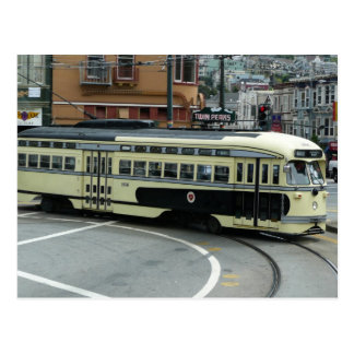 San Francisco Cable Car City Scene Photography Postcard