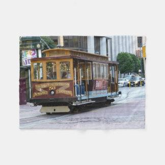 San Francisco Cable Car Fleece Blanket