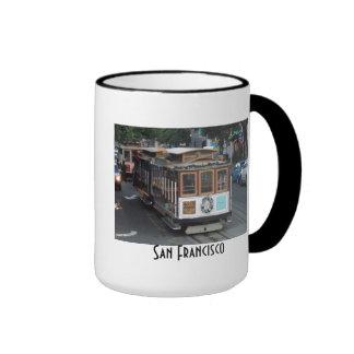 San Francisco Cable Car Ringer Mug
