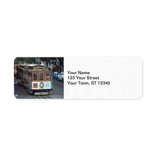 San Francisco Cable Car Return Address Label