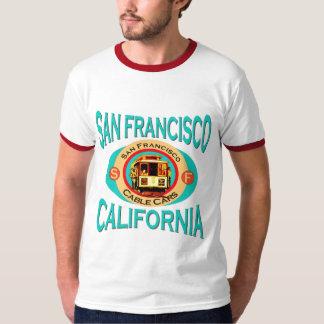 San Francisco Cable Car Ringer T Shirt