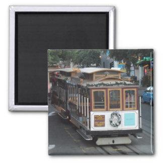 San Francisco Cable Car Square Magnet