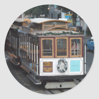 San Francisco Cable Car Classic Round Sticker