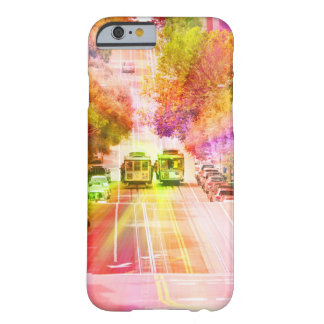 San Francisco cable cars psychedelic Barely There iPhone 6 Case
