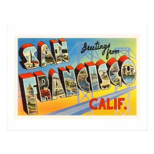 San Francisco California CA Old Travel Souvenir Postcard