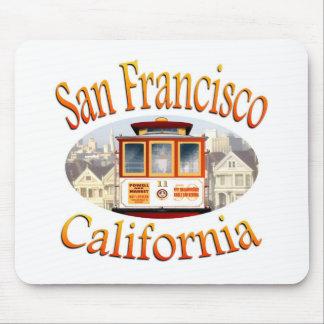 San Francisco California Cable Car Mouse Pads