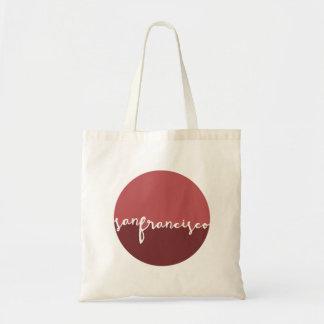 San Francisco, California | Calligraphy Circle Budget Tote Bag