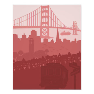 San Francisco California City Skyline Golden Gate Photograph