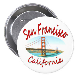 San Francisco California Golden Gate 7.5 Cm Round Badge