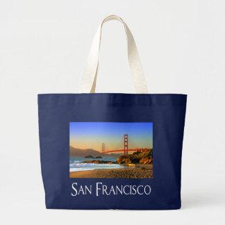 San Francisco, California Golden Gate Bridge Tote Jumbo Tote Bag