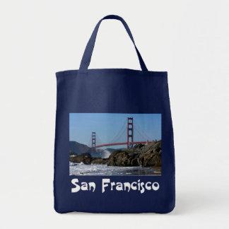 San Francisco, California Golden Gate Bridge Tote Grocery Tote Bag