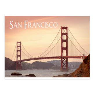 San Francisco California Golden Gate Bridge, USA Postcard