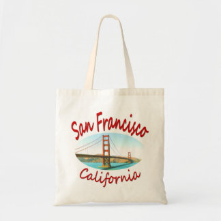 San Francisco California Golden Gate Budget Tote Bag