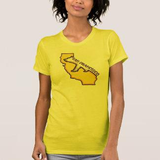 San Francisco California ladies yellow state tee