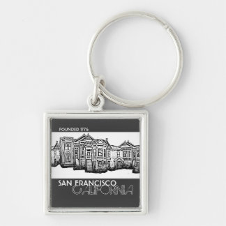 San Francisco California old town keychain