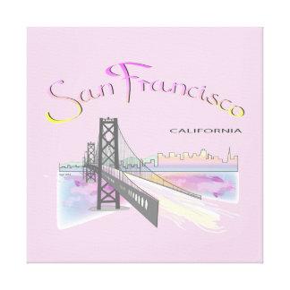 San Francisco, California Rainbow Colors Canvas Print