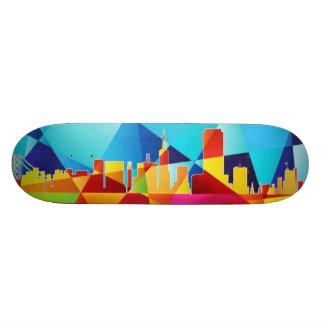 San Francisco California Skyline Cityscape Skate Board Decks