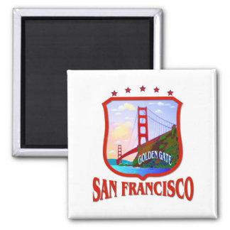 San Francisco California Square Magnet