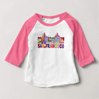 San Francisco, California | Typography Design Baby T-Shirt