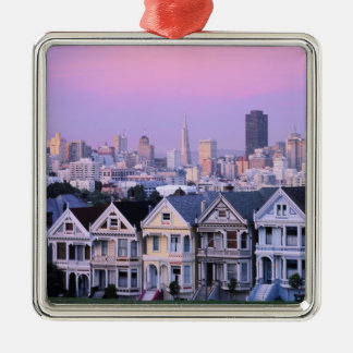 San Francisco, California. View of Victorian Christmas Ornament