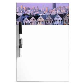 San Francisco, California. View of Victorian Dry Erase Board