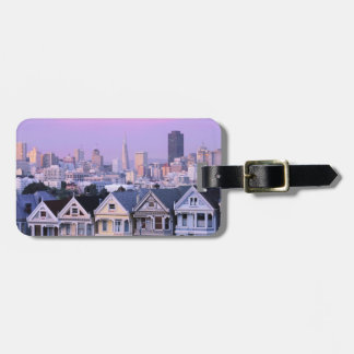 San Francisco, California. View of Victorian Luggage Tag
