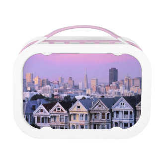 San Francisco, California. View of Victorian Lunch Boxes