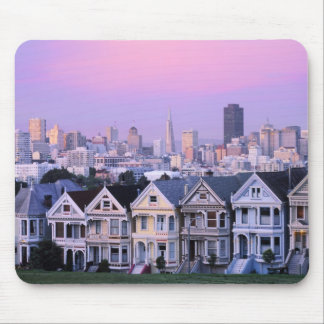 San Francisco, California. View of Victorian Mouse Mat