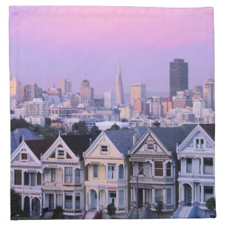 San Francisco, California. View of Victorian Napkin