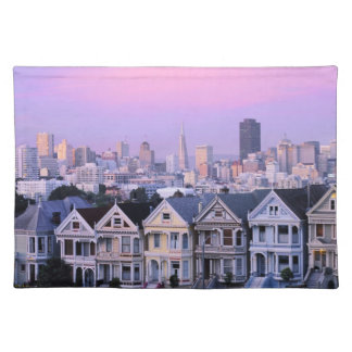 San Francisco, California. View of Victorian Placemat