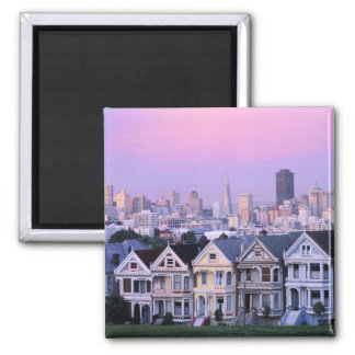 San Francisco, California. View of Victorian Square Magnet