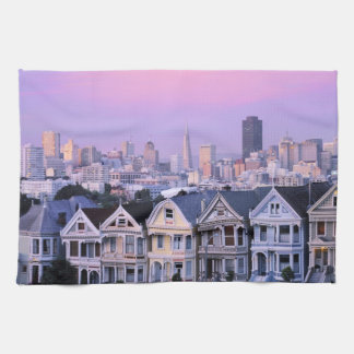 San Francisco, California. View of Victorian Tea Towel