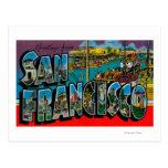 San Francisco, CaliforniaLarge Letter Scenes Postcard