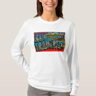 San Francisco, CaliforniaLarge Letter Scenes T-Shirt