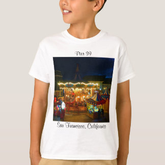 San Francisco Carousel Pier 39 #2 Kids T-shirt