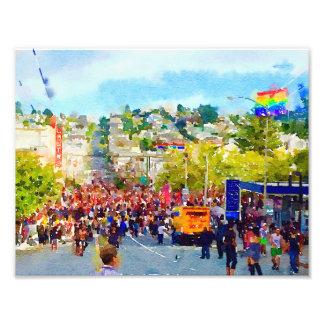 San Francisco - Castro, Watercolor Photograph