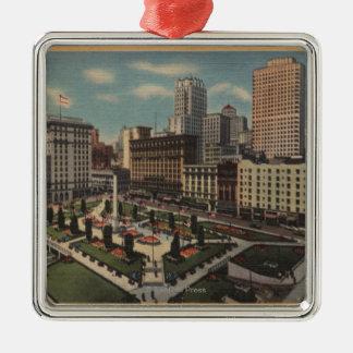 San Francisco, CAUnion Square View Silver-Colored Square Decoration