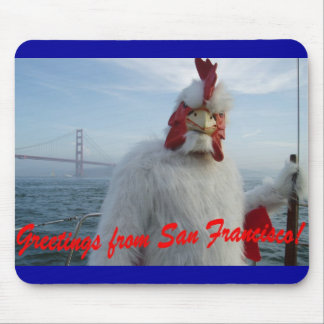 San Francisco Chicken Mouse Mat