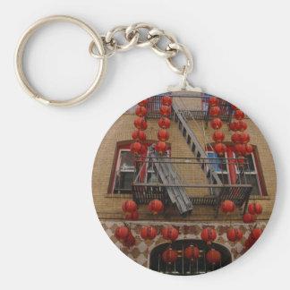 San Francisco Chinatown Temple Keychain
