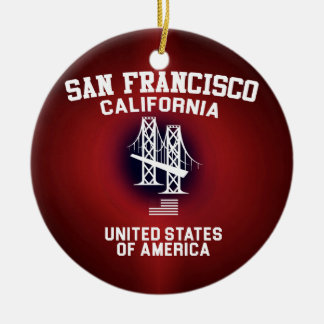 San Francisco Christmas Ornament
